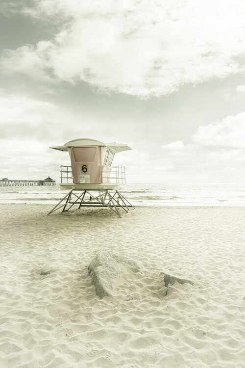 Art Print on Demand CALIFORNIA Imperial Beach | Vintage
