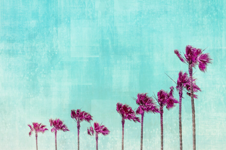 Art Print on Demand California Vibes In Psychadelic Colors