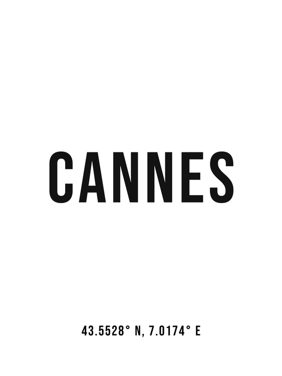 Art Print on Demand Cannes simple coordinates