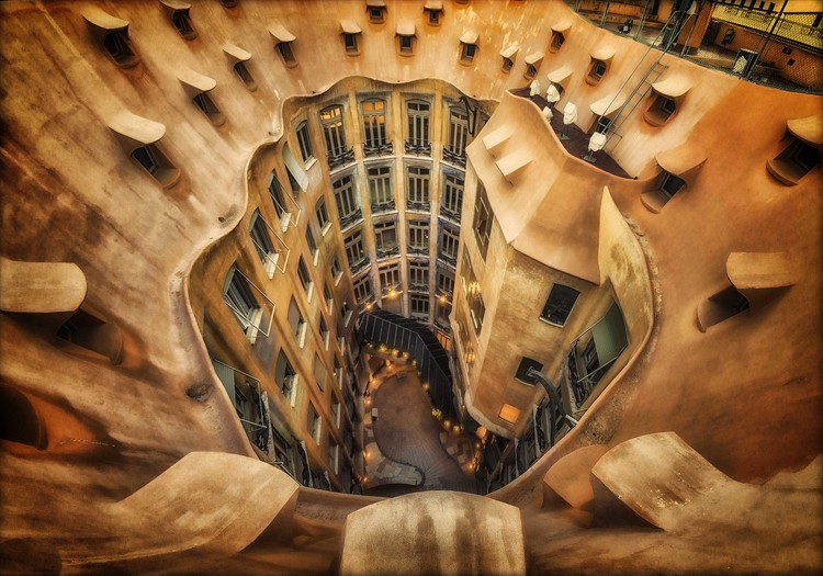Art Print on Demand Casa MilA La Pedrera  Barcelona.