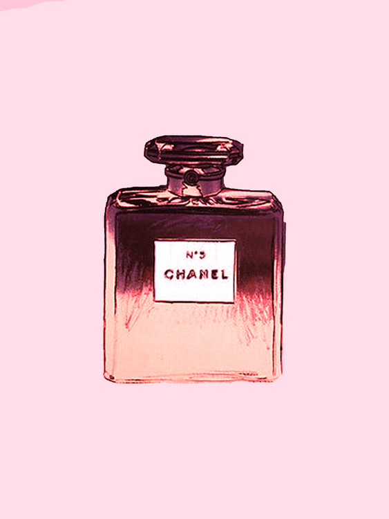 Art Print on Demand Chanel No.5 pink