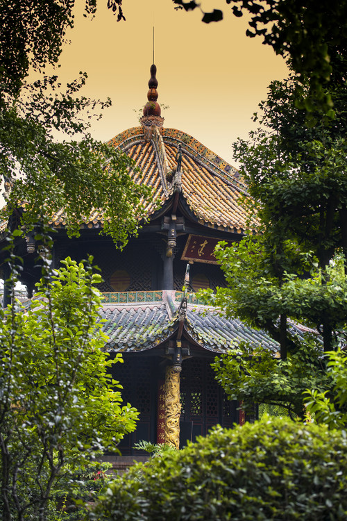 Art Print on Demand China 10MKm2 Collection - Chinese Pavilion at Sunset