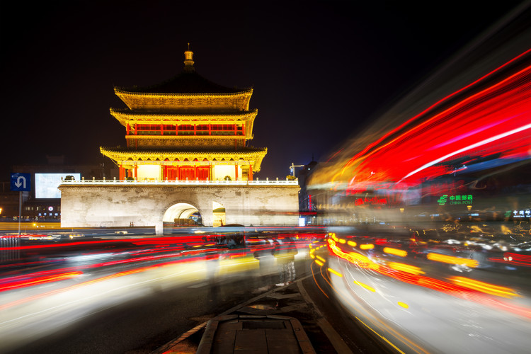 Art Print on Demand China 10MKm2 Collection - City Lights - Xi'an City
