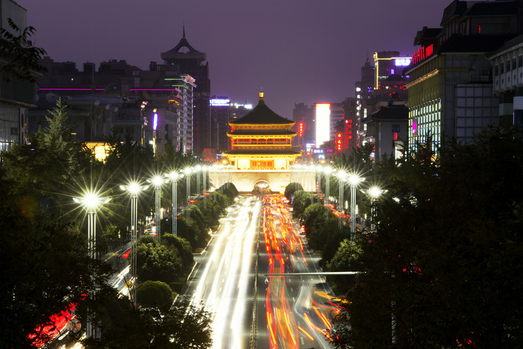 Art Print on Demand China 10MKm2 Collection - City Night Xi'an