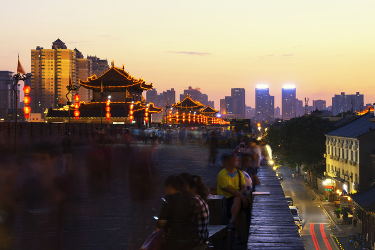 Art Print on Demand China 10MKm2 Collection - City Night Xi'an III