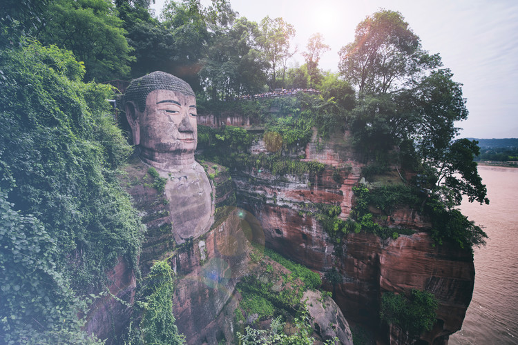 Art Print on Demand China 10MKm2 Collection - Giant Buddha of Leshan