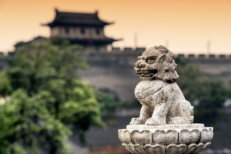 Art Print on Demand China 10MKm2 Collection - Guardian of the Temple