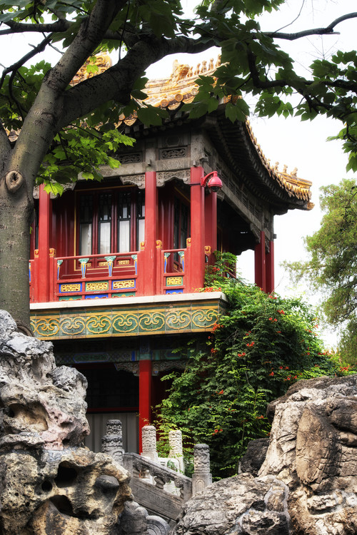 Art Print on Demand China 10MKm2 Collection - Red Pavilion