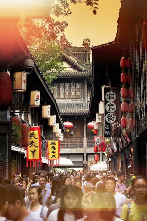 Art Print on Demand China 10MKm2 Collection - Street Atmosphere