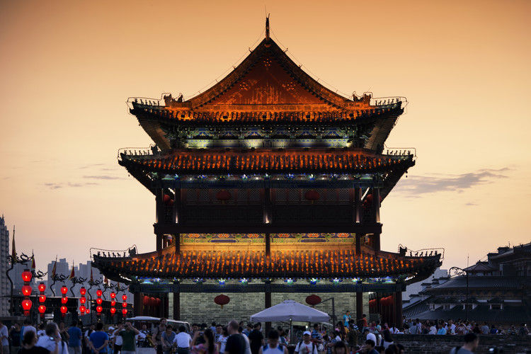 Art Print on Demand China 10MKm2 Collection - Xi'an Temple