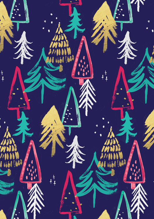 Art Print on Demand Christmas pattern