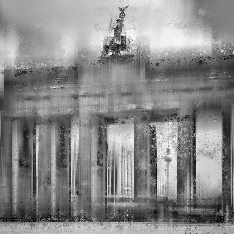 Art Print on Demand City Art BERLIN Brandenburg Gate