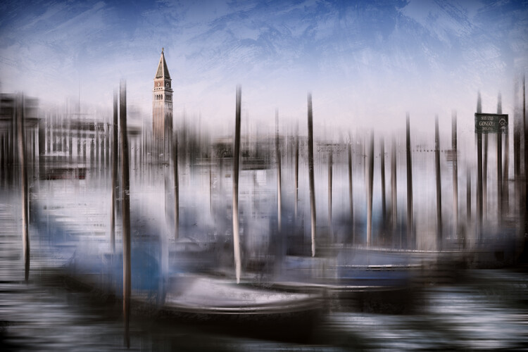 Art Print on Demand City Art VENICE Grand Canal and St Mark's Campanile