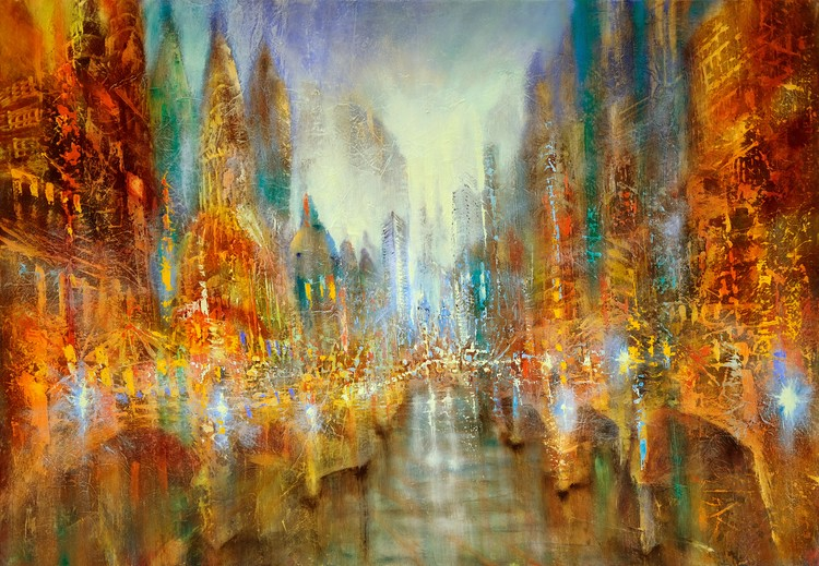 Art Print on Demand City of lights