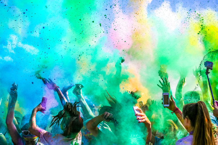 Art Print on Demand Color Run