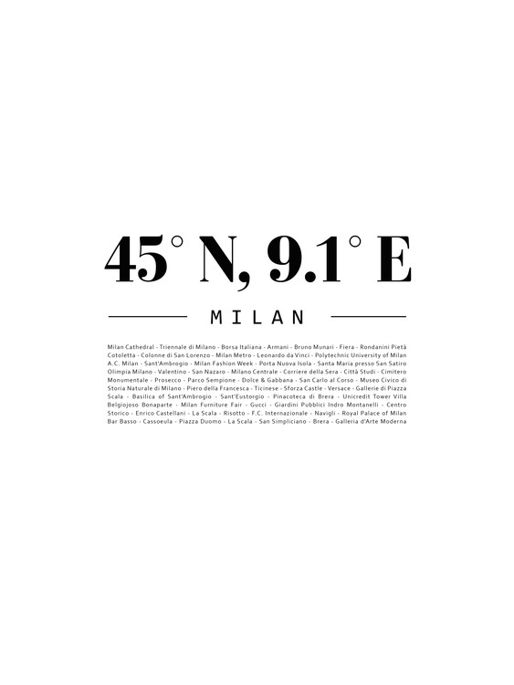 Art Print on Demand coordinatesmilan