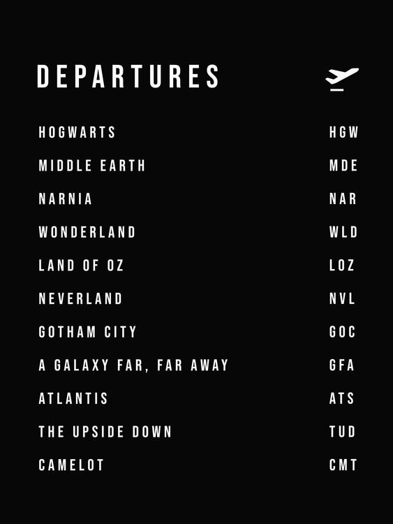 Art Print on Demand Departures
