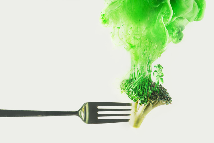 Art Print on Demand Disintegrated broccoli