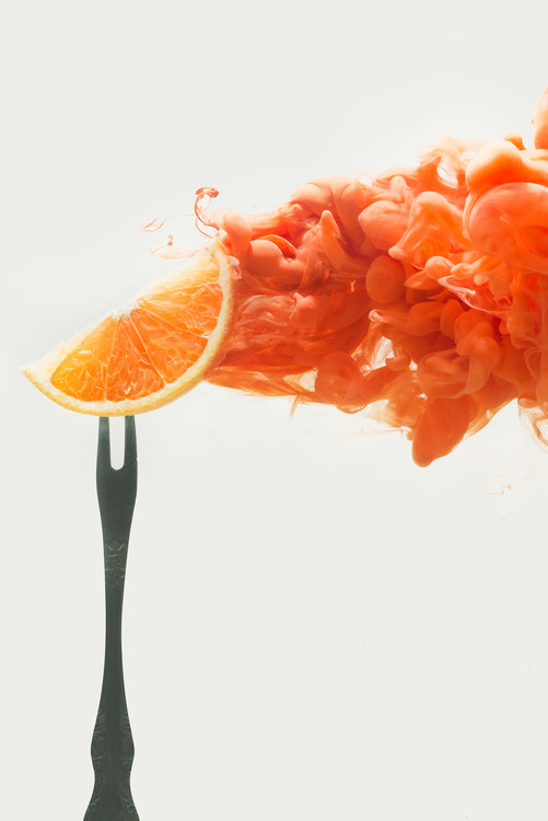Art Print on Demand Disintegrated orange
