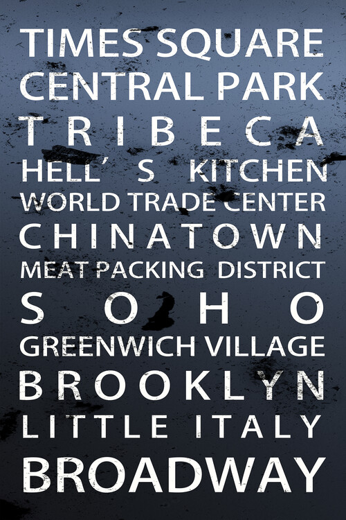 Art Print on Demand Districts NY