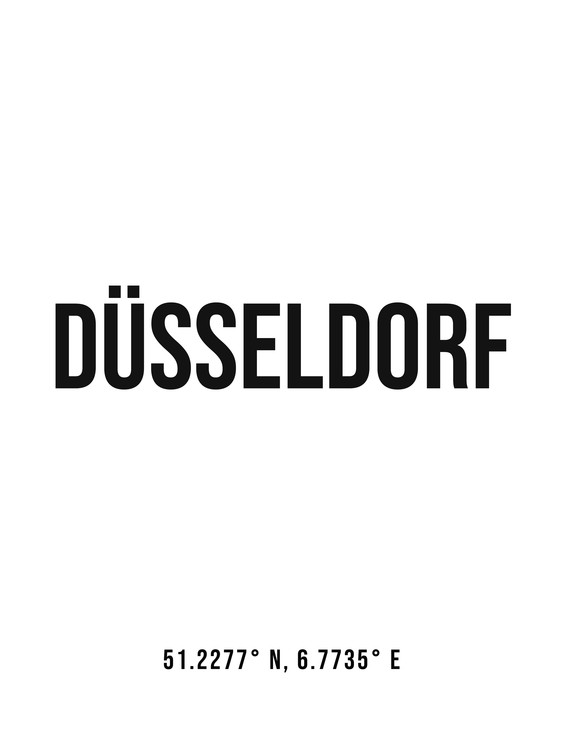Art Print on Demand Dusseldorf simple coordinates