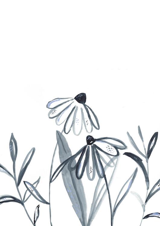 Art Print on Demand Echinacea meadow