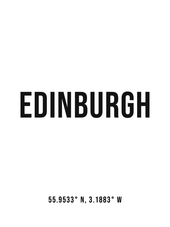 Art Print on Demand Edinburgh simple coordinates