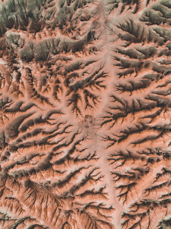 Art Print on Demand Eroded red desert