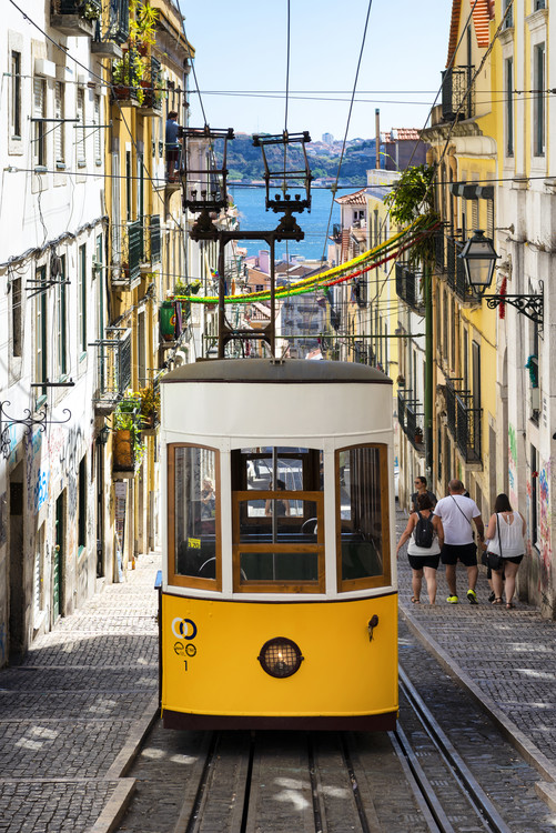 Art Print on Demand Famous Yellow Funicular in Bairro Alto