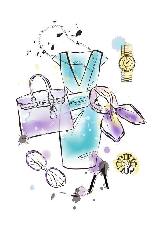 Art Print on Demand Fashion Flatlay