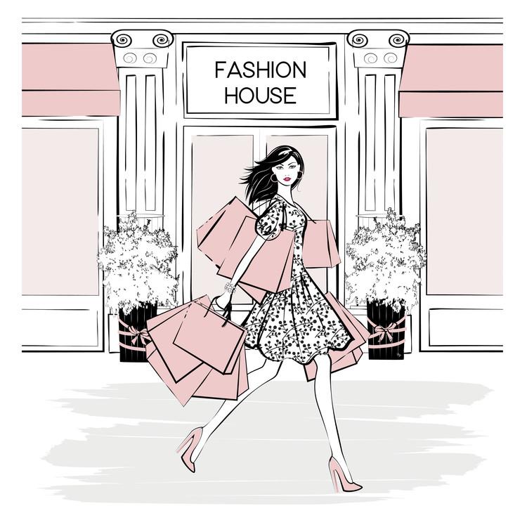 Art Print on Demand Fashion House