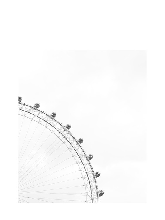 Art Print on Demand ferriswheelblackandwhite