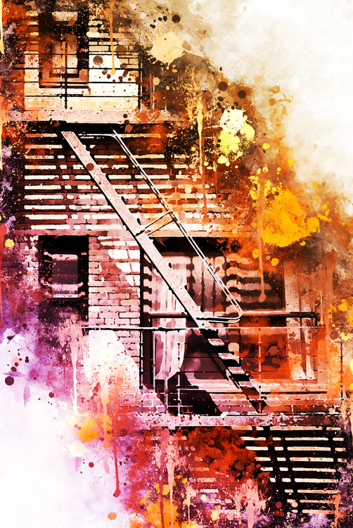 Art Print on Demand Fire Escape