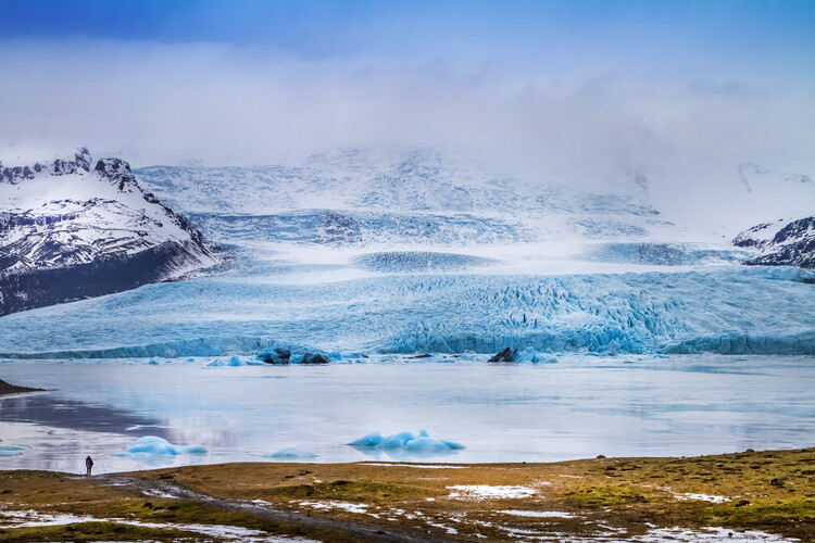 Art Print on Demand Fjallsarlon Lagoon And Glacier Vatnajokull