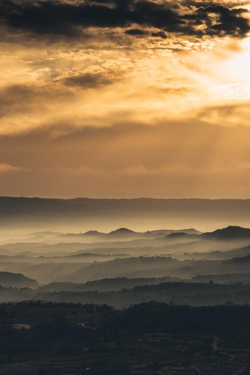 Art Print on Demand Fog between the valleys