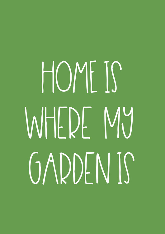 Art Print on Demand Garden green