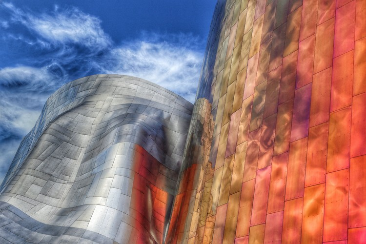 Art Print on Demand Gehry architecture  Seattle  Washington USA