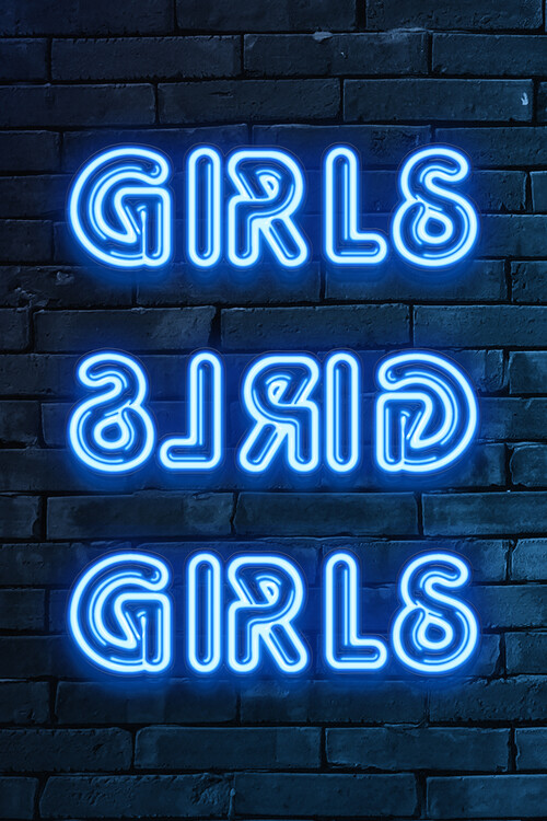 Art Print on Demand GIRLS GIRLS GIRLS