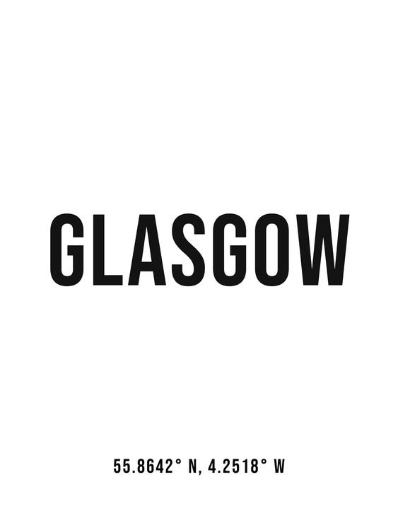 Art Print on Demand Glasgow simple coordinates