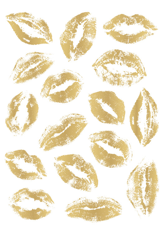 Art Print on Demand Golden Kisses