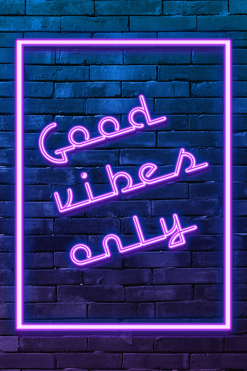 Art Print on Demand Good vibes only