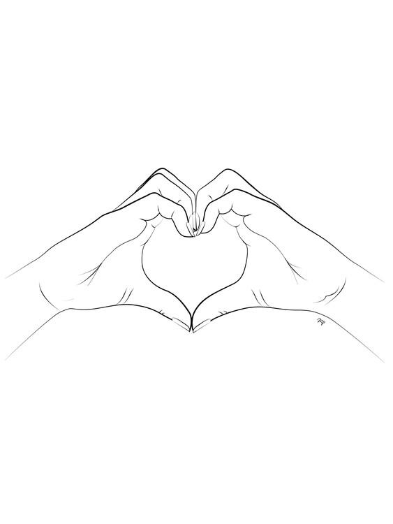 Art Print on Demand Hand Heart