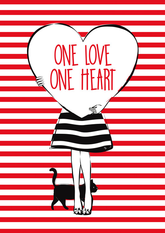 Art Print on Demand Heart Girl