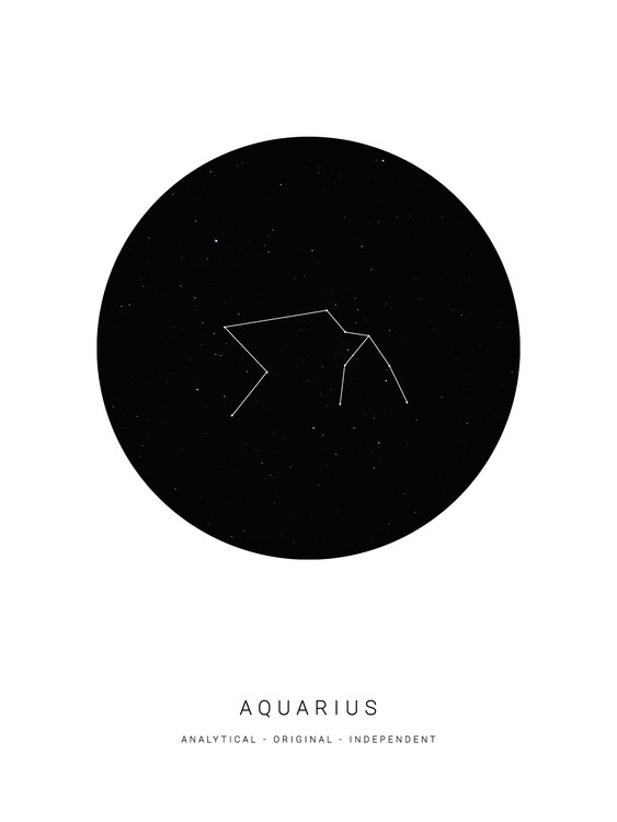 Art Print on Demand horoscopeaquarius