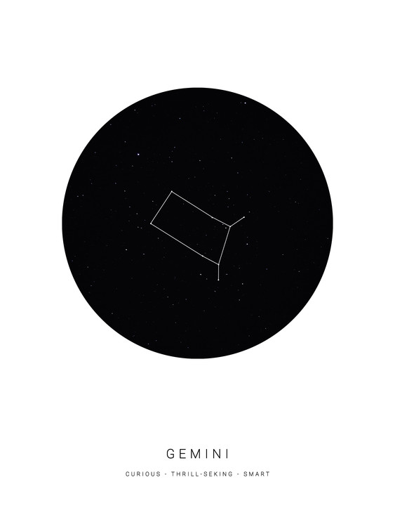 Art Print on Demand horoscopegemini