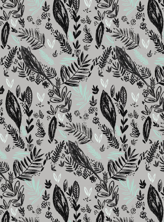 Art Print on Demand Inky jungle