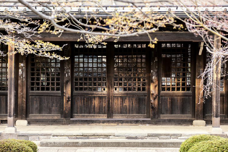Art Print on Demand Japanese wooden Facade