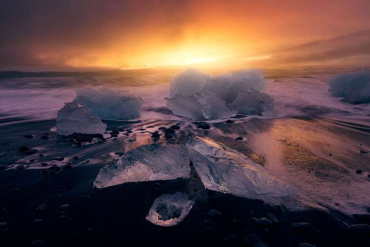 Art Print on Demand JokulsarlonA´s sunrise II