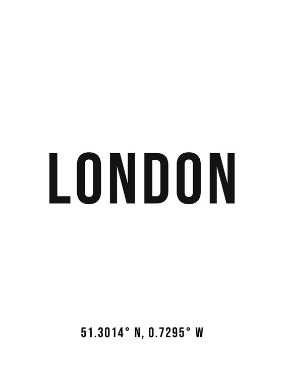 Art Print on Demand London simple coordinates