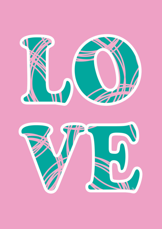 Art Print on Demand Love